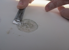 pierwsze prace remontowe - usuwanie pęcherzy osmozy
