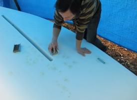 szlifowanie - trochę ręcznie