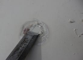 pierwsze prace remontowe - usuwanie uszkodzeń