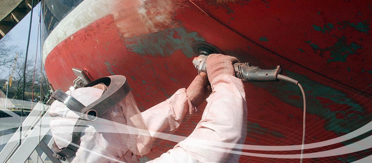Malowanie jachtu
